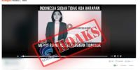 Kominfo pastikan video Merry Riana sebut Indonesia bubar, hoax