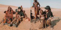 Liburan di Afrika, ini 5 potret Nikita Willy bersama Suku Himba