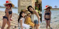 6 Potret liburan seru Gempi bareng mama dan temannya, gemesin abis