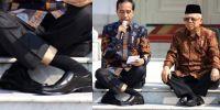 Sukhasana, posisi duduk Presiden Jokowi yang sempat viral