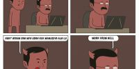 8 Komik strip tentang setan di tengah wabah Covid-19 ini bikin ngakak