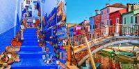 10 Kota di berbagai negara ini gemerlap dengan bangunan warna-warni