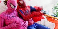 12 Potret tingkah kocak orang berkostum Spiderman ini bikin ngakak