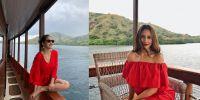 7 Potret keseruan Pevita Pearce saat menikmati keindahan alam