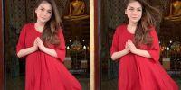 7 Potret Celine Evangelista dalam balutan busana merah, makin menawan