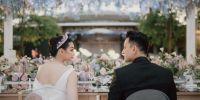 5 Momen resepsi pernikahan Billy Davidson & Patricia di Bali, romantis