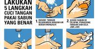 Mencuci tangan, salah satu cara hidup lebih sehat di tengah pandemi