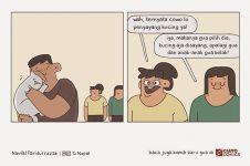 7 Komik strip tentang keluarga ini gokil abis, bikin susah nahan tawa