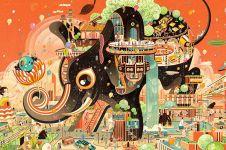 Ilustrasi warni dan multi dimensi oleh Victo Ngai, bikin takjub
