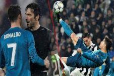 Gol salto Cristiano Ronaldo ke gawang Juventus jadi terbaik versi UEFA