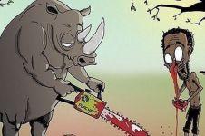 9 Ilustrasi ini gambarkan jika manusia bertukar tempat dengan hewan