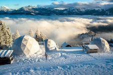Geodesic Dome Hotel, kemewahan & petualangan di Pegunungan Alpen Swiss