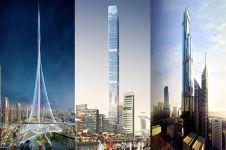 Dubai bangun 3 gedung pencakar langit, ada yang setinggi 1 kilometer
