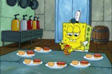 Selain koki Krusty Krab, 15 pekerjaan ini pernah dilakoni Spongebob