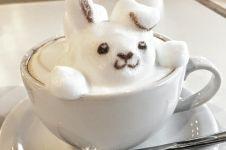 5 Potret latte tiga dimensi ini bikin kesengsem, jadi gak tega minum