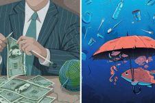 30 Ilustrasi menyedihkan ini sindir sisi gelap kehidupan modern