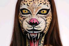 Wanita asal Indonesia ini punya bakat make up yang anti-mainstream