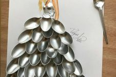 10 Desain gaun dari benda sederhana ini hasilnya keren abis