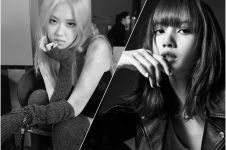 7 Potret adu gaya Lisa dan Jisoo BLACKPINK dalam konsep hitam putih