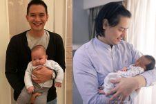 10 Gaya Rezky Aditya dan Roger Danuarta saat asuh anak, papa siaga