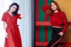 6 Potret Gisella Anastasia kenakan busana warna merah, bikin terpana