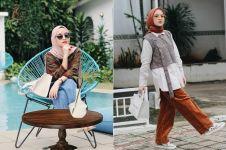 6 Inspirasi fashion hijab ala Nissa Sabyan, simpel dan kekinian