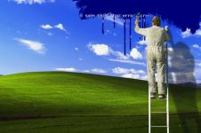 14 Foto editan Bukit Bliss di wallpaper Windows XP ini kreatif abis