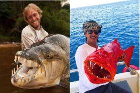 10 Ikan monster besar ini berhasil ditangkap oleh pemancing