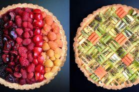 Kreasi  22 pie ini detailnya bikin kagum, gradasi warnanya keren!