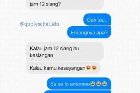 18 Kumpulan chat ini bikin baper, sweet banget
