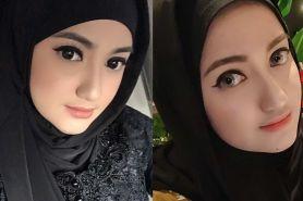 9 Potret Marcella Simon saat kenakan hijab hitam, cantik menawan