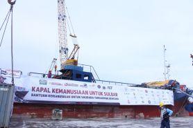 Lepas jangkar, Kapal Kemanusiaan bawa 1000 ton bantuan ke Sulbar