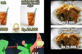 10 Meme makanan Indonesia diterjemahkan ke bahasa Inggris, jadi mahal