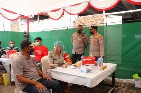 Wakapolda Sulut tinjau vaksinasi serentak di Masjid Agung Manado