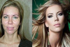 Berkat makeup, perubahan wajah 5 wanita ini bikin pangling