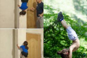 Bocah 9 tahun miliki skill 'Spiderman', naik-turun tembok tanpa alat