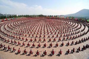 Potret menakjubkan 10 ribu siswa unjuk kebolehan Kung Fu