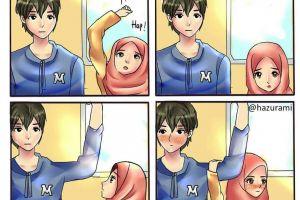 8 Ilustrasi pasangan menikah muda ini bikin adem sekaligus baper