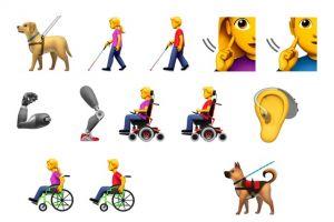 Emoji baru yang mewakili penyandang disabilitas akan dirilis, keren!
