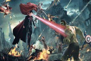 Begini jika superhero Marvel bertarung dengan superhero DC, seru abis