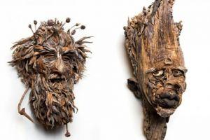 Siapa sangka 6 patung ini terbuat dari gabungan kayu lapuk lho!