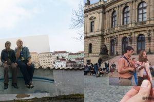 12 Foto ini gabungkan adegan di film dengan tempat aktual di Prague