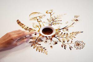 Tak pakai tinta, 10 karya seni ini dibuat dari kopi