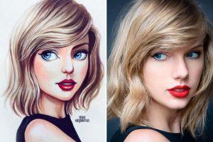 Seniman Rusia gambar 13 wajah pesohor dunia ini jadi karakter kartun