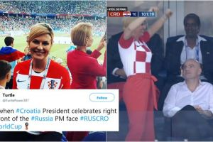 10 Foto Kolinda G Kitarovi? Presiden Kroasia viral di Piala Dunia 2018