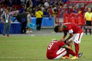 Ekspresi kesedihan Timnas U-23 Indonesia, bikin baper