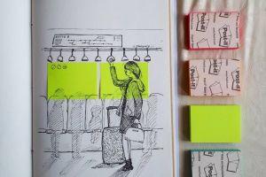 Ilustrasi keren ini dibuat hanya dengan Sticky Notes, lho