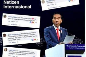 Pidato Jokowi di World Ekonomi Forum tuai pujian netizen internasional