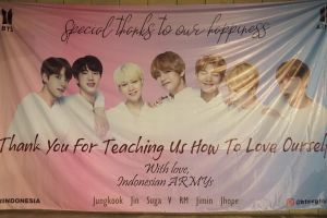 Keseruan nobar 'BTS World Tour: Love Yourself in Seoul' di Mojokerto
