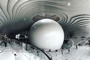 The Eye, perpustakaan keren di Tianjin yang bernuansa futuristik